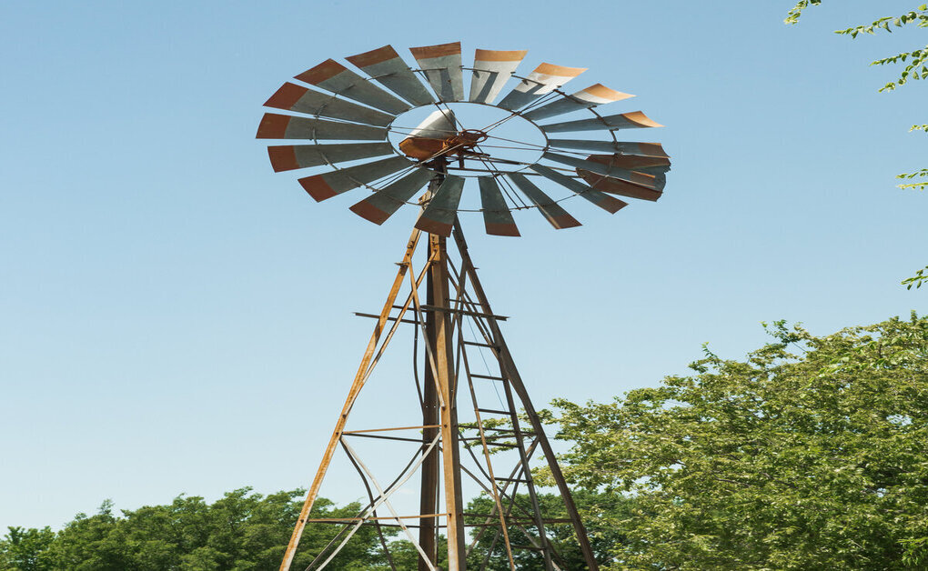 windmill at secluded rehab center